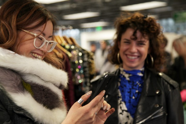 Happy Customers at the Upcycle Fashion Shop