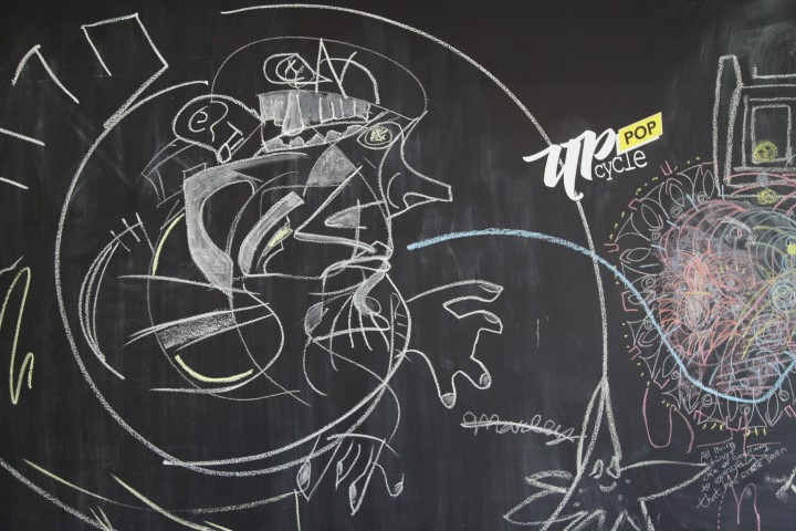 Creative Drawing on the Chalkboard Paint